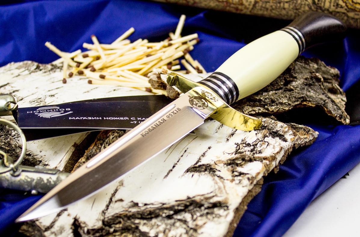Нож Финка НКВД,  95х18Ножи Ворсма<br>Нож Финка НКВД, пластик, сталь 95х18<br>