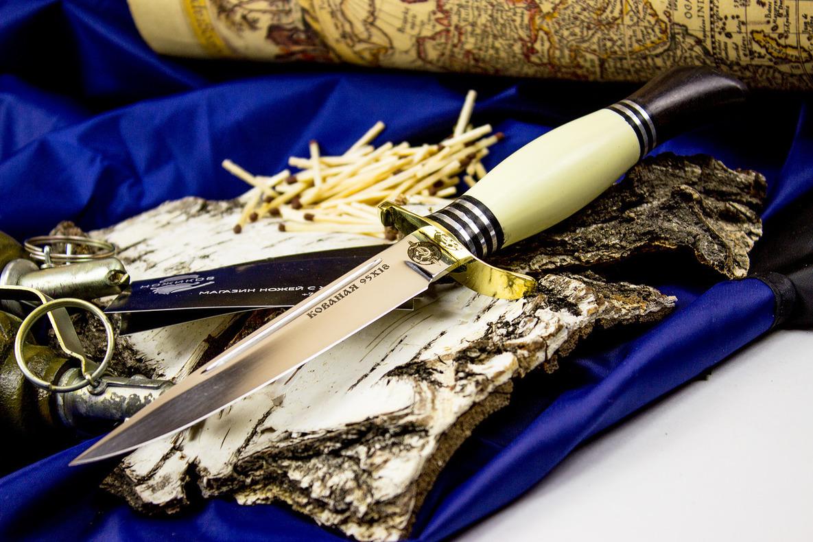Нож Финка НКВД, латунь, сталь 95х18Ножи Ворсма<br>Нож Финка НКВД, латунь, сталь 95х18<br>