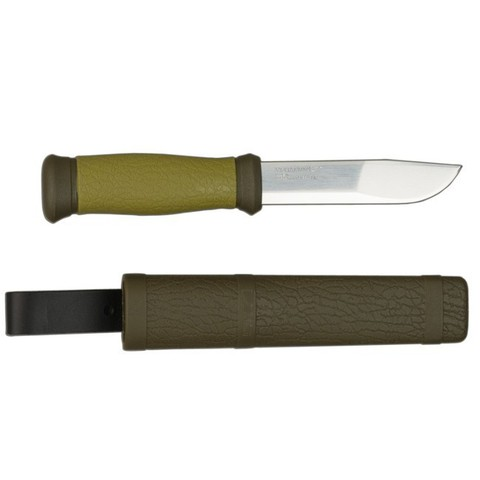 Нож Mora 2000, нержавеющая сталь, цвет зеленый - Nozhikov.ru