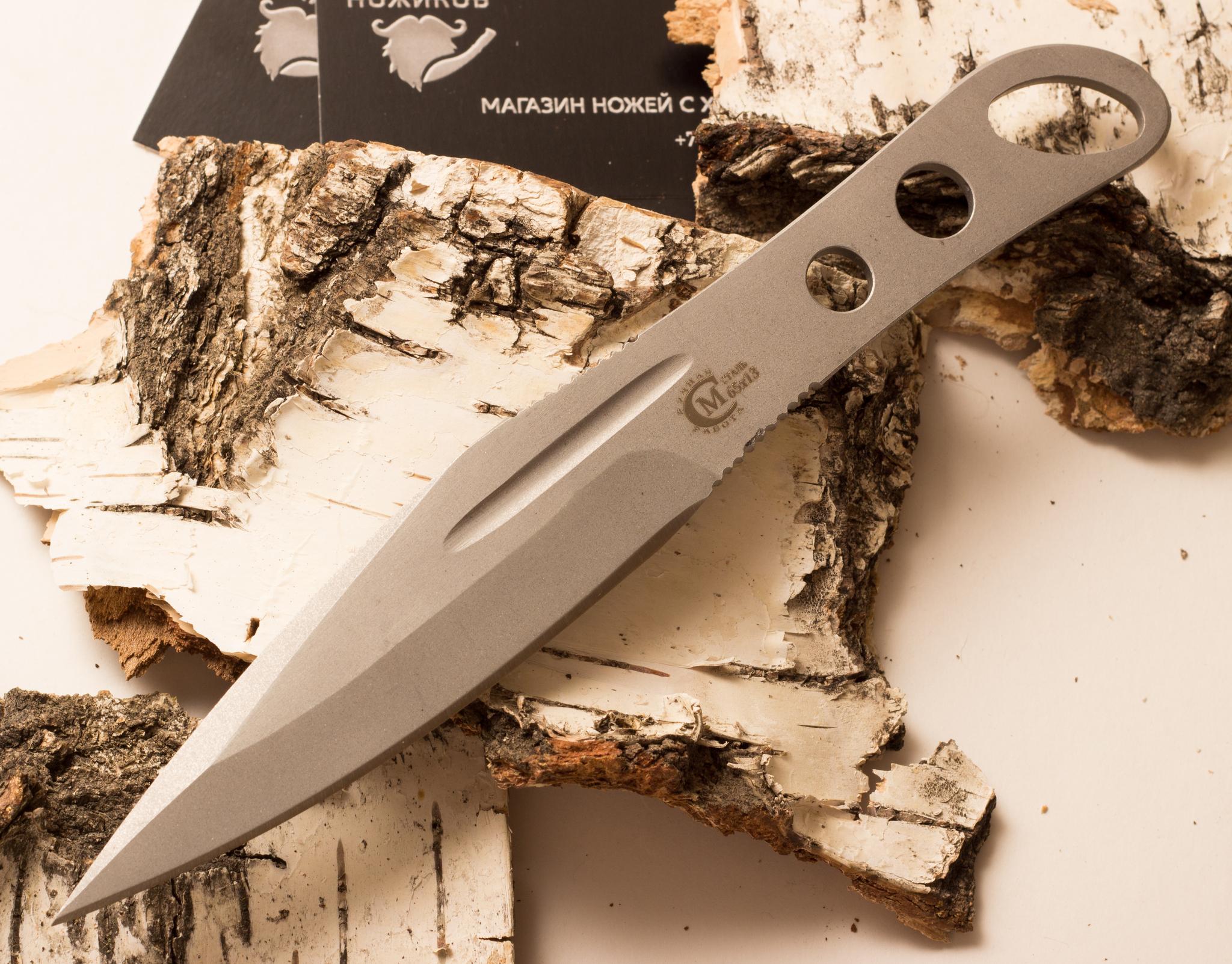 Нож «Перо», из нержавеющей стали 65х13Ножи из стали 65х13<br>Сталь 65Х13, нержавеющаяОбщая длина, мм 214Длина клинка, мм 113Ширина клинка, мм 29,7Толщина клинка, мм 5,6Длина рукояти, мм 101Толщина рукояти, мм 5,6Твёрдость клинка, HRC<br>