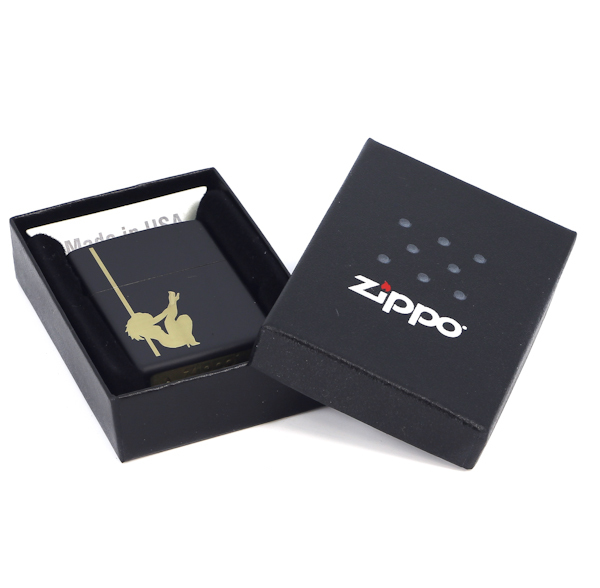 Фото 3 - Зажигалка ZIPPO Classic с покрытием Black Matte, латунь/сталь, чёрная, матовая, 36x12x56 мм