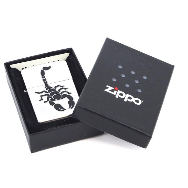 Фото 3 - Зажигалка ZIPPO Scorpion Satin Chrome, латунь с никеле-хром. покрыт., серебр., матовая, 36х56х12 мм