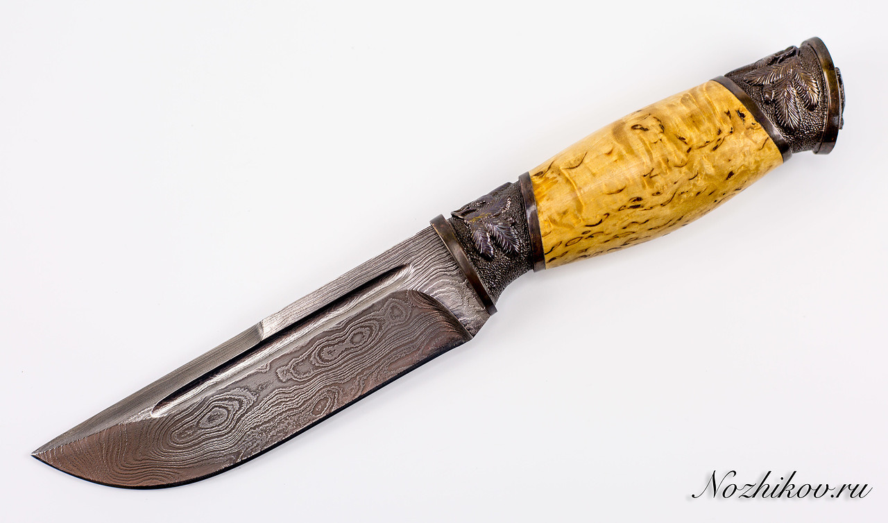 Авторский Нож из Дамаска №49, КизлярНожи Кизляр<br><br>