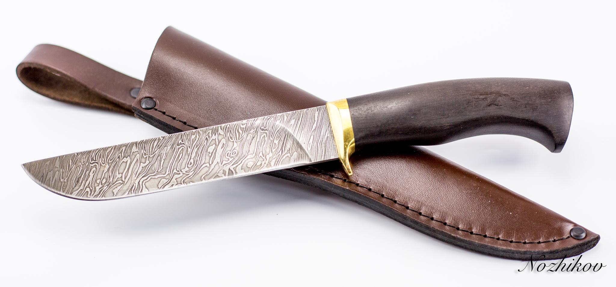 Фото 5 - Нож Лесник-2, сталь дамаск, граб от Промтехснаб