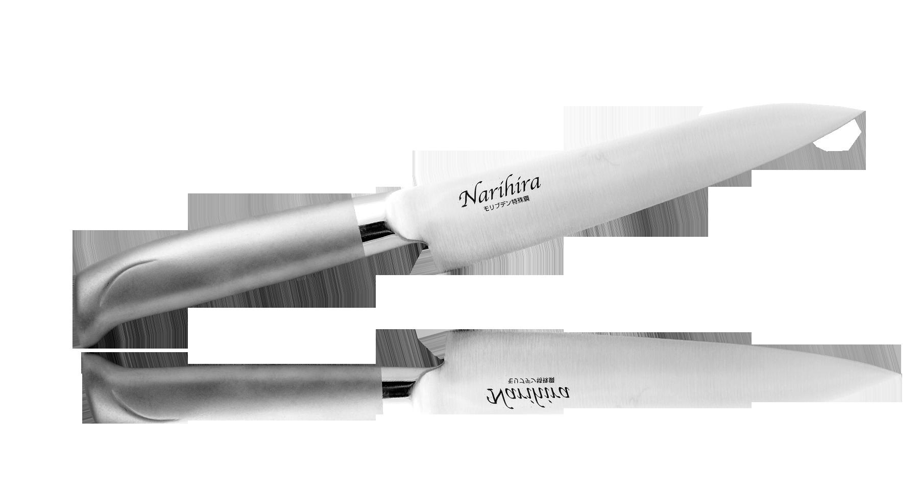 Нож Универсальный Narihira 150 мм, сталь AUS-8, стальная рукоятьНожи шефа (поварские ножи)<br>Нож Универсальный Narihira 150 мм, сталь AUS-8, стальная рукоять<br>
