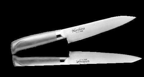 Нож Универсальный Narihira 150 мм, сталь AUS-8, стальная рукоять - Nozhikov.ru