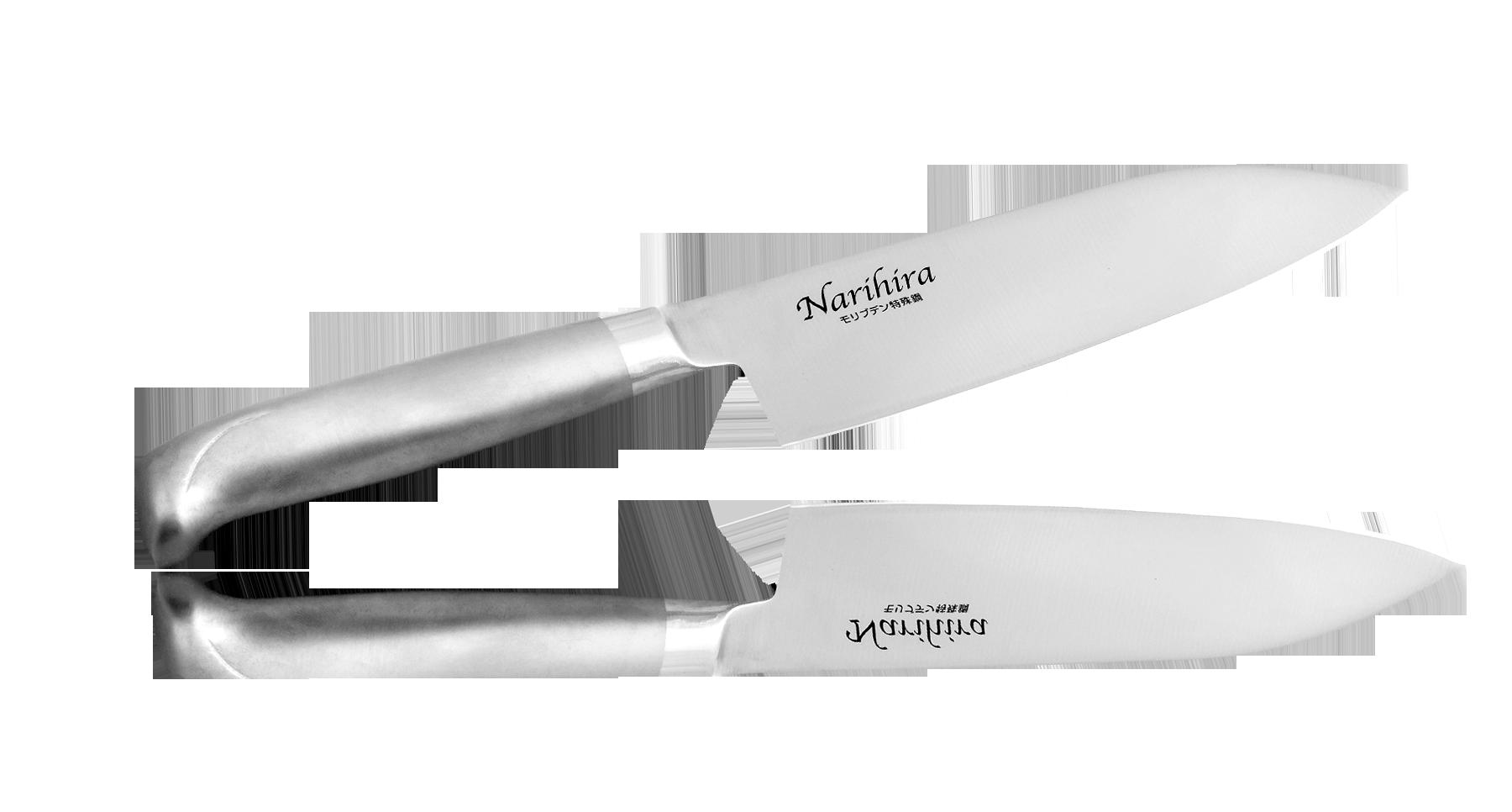 Нож Сантоку Narihira 170 мм, сталь AUS-8, стальная рукоятьНожи шефа (поварские ножи)<br>Нож Сантоку Narihira 170 мм, сталь AUS-8, стальная рукоять<br>