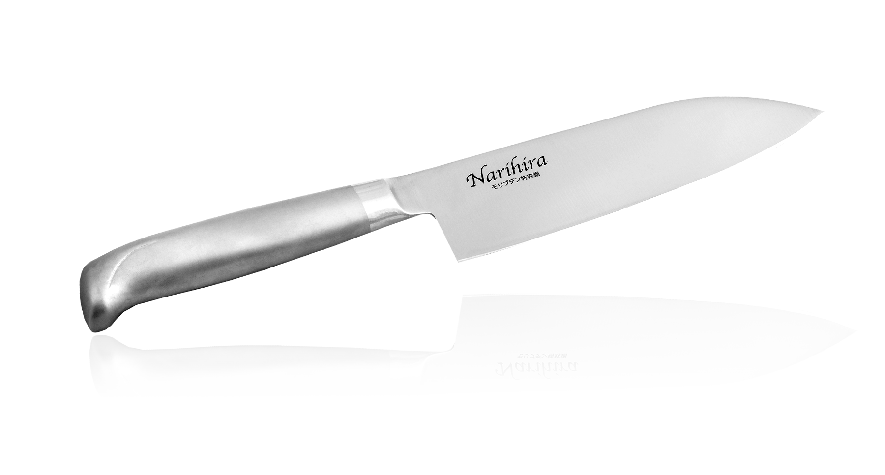 Нож Сантоку Narihira 170 мм, сталь AUS-8, стальная рукоять
