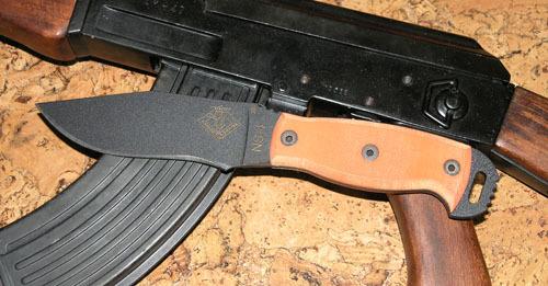Нож с фиксированным клинком Ontario NS-4 ORANGE G10 мачете ontario sp8