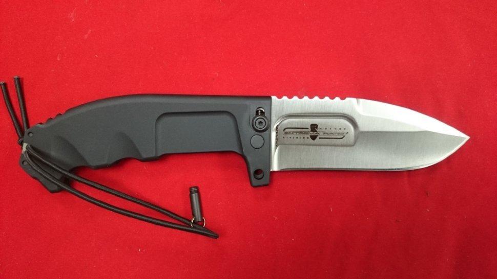 Складной нож RAO 2 SatinВыкидные и автоматические<br>Складной нож RAO 2 Satin, складной, сталь N690, клинок Drop Point сатин, рукоять черная металическая, чехол нейлон с алмазным точилом.<br>