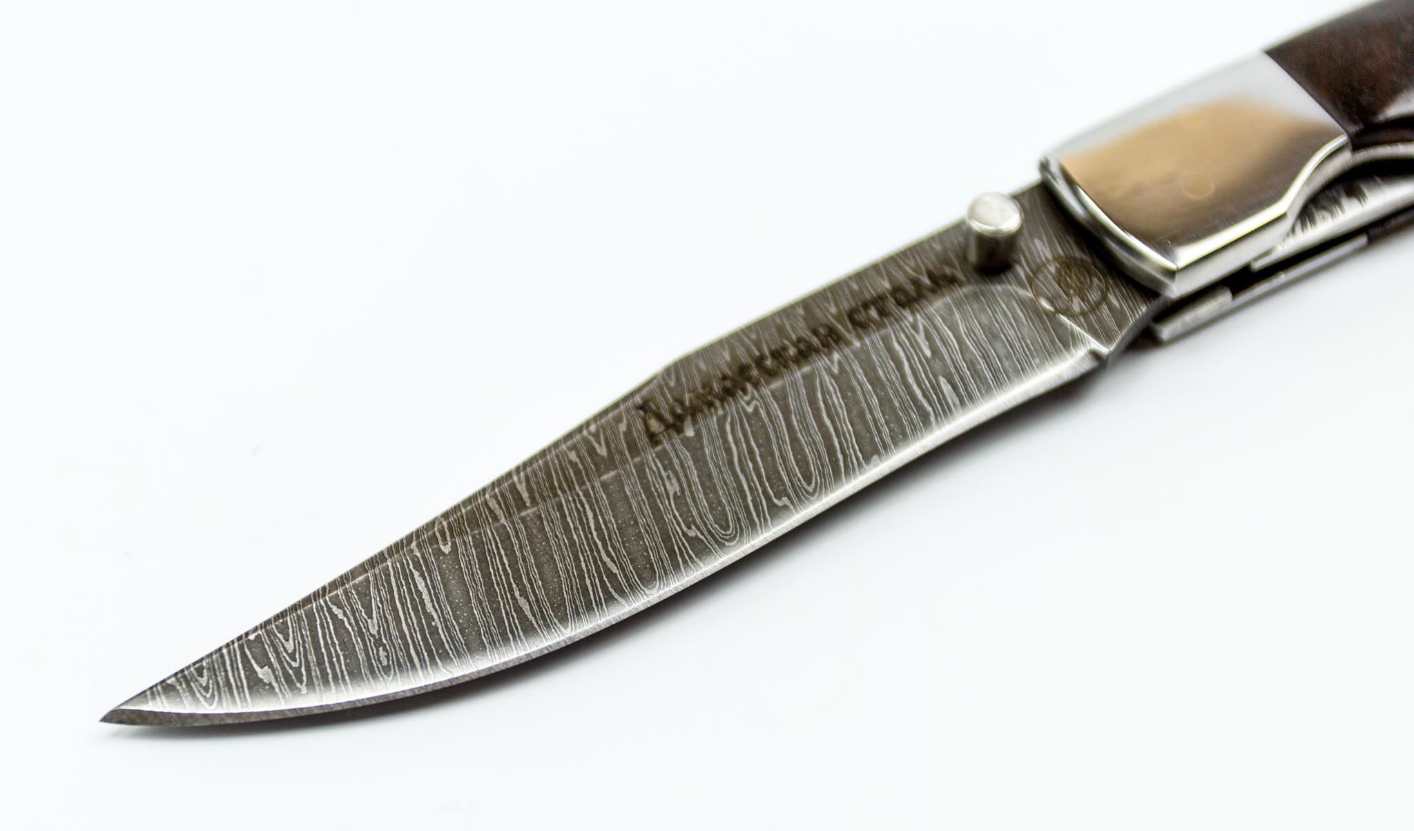 Фото 5 - Складной нож Рысь-1, дамаск