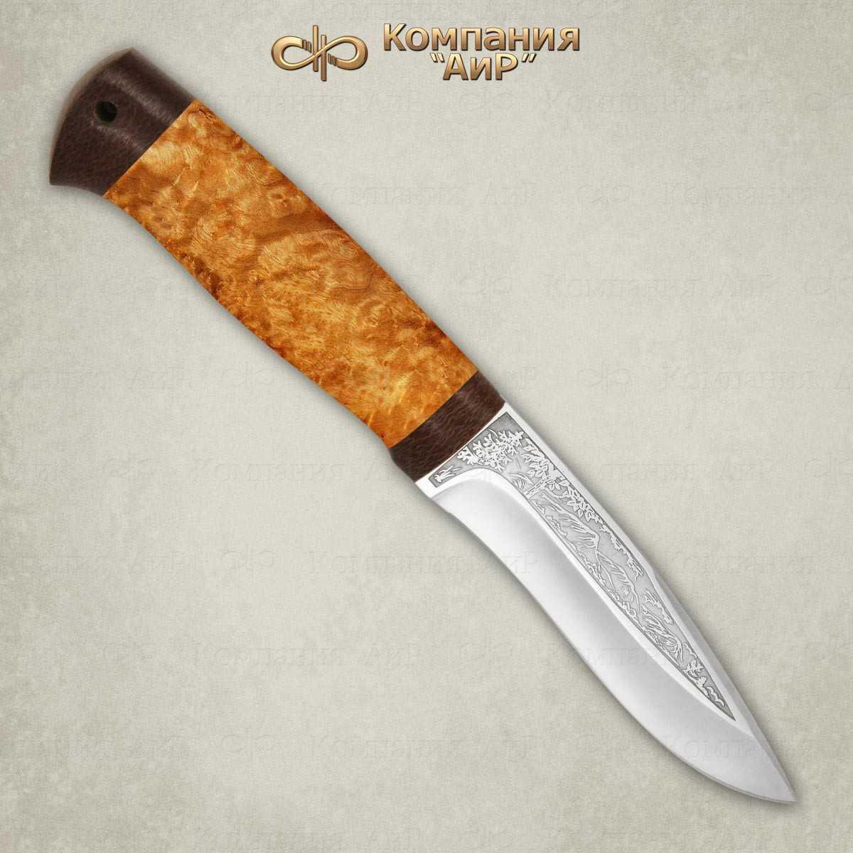 Нож Шаман-2, АиР, карельская береза, 95х18