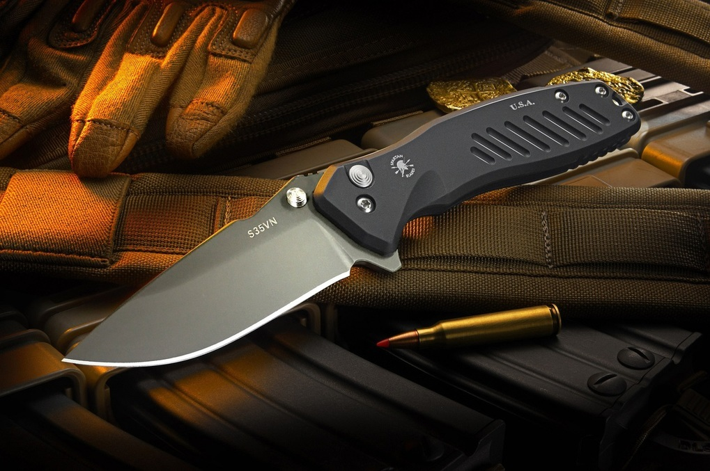 Нож складной Pallas Flipper, Black Aluminum Handles, Black DLC-Coated Crucible CPM® S35VN™ Blade 9.5 см.Раскладные ножи<br>Нож складной Pallas Flipper, Black Aluminum Handles, Black DLC-Coated Crucible CPM® S35VN™ Blade 9.5 см.<br>