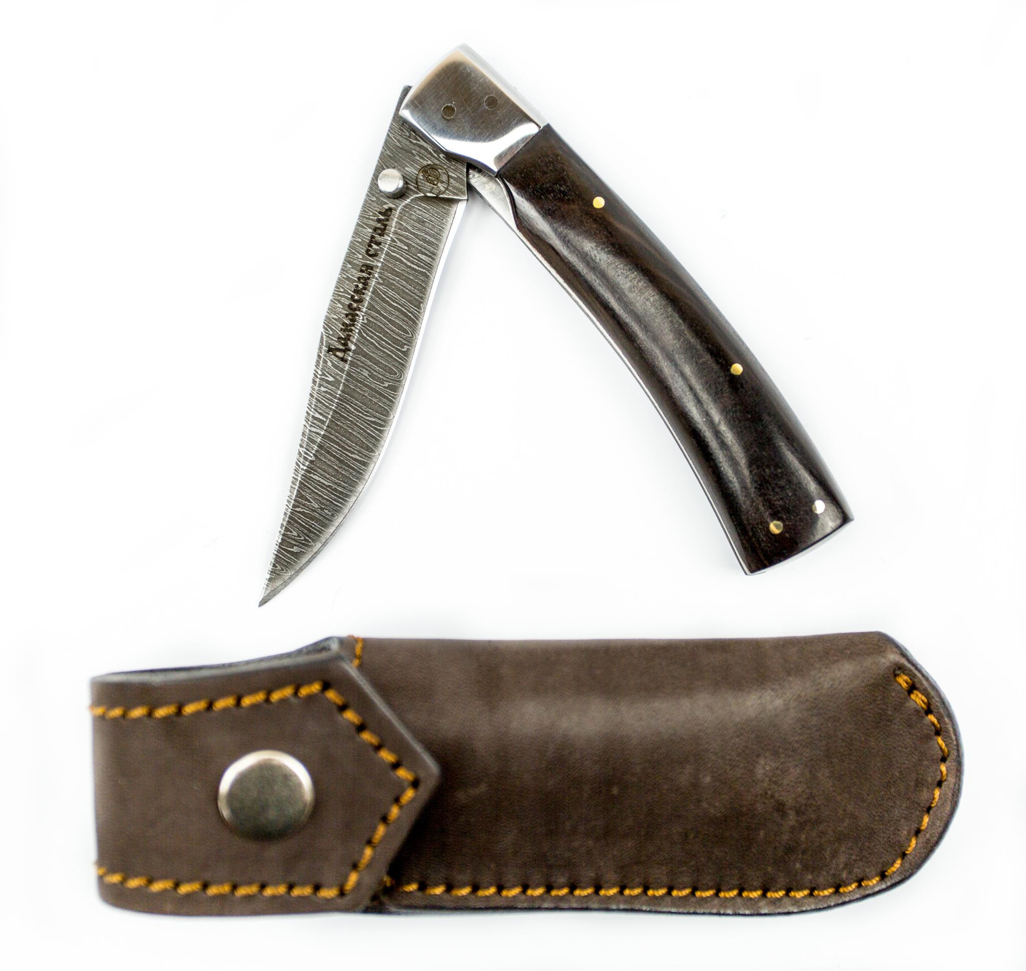 Фото 7 - Складной нож Рысь-1, дамаск