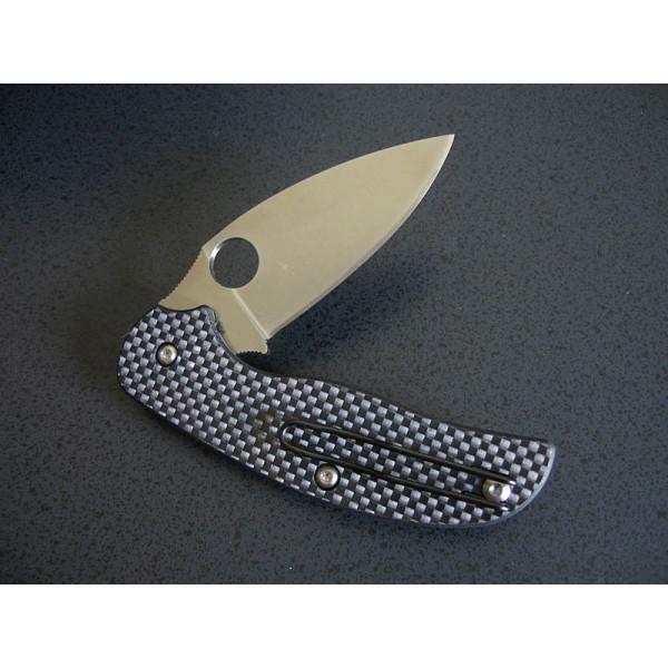 Фото 5 - Нож складной Sage 1 - Spyderco 123CFP, сталь Crucible CPM® S30V™ Satin Plain, рукоять карбон/G10, чёрный