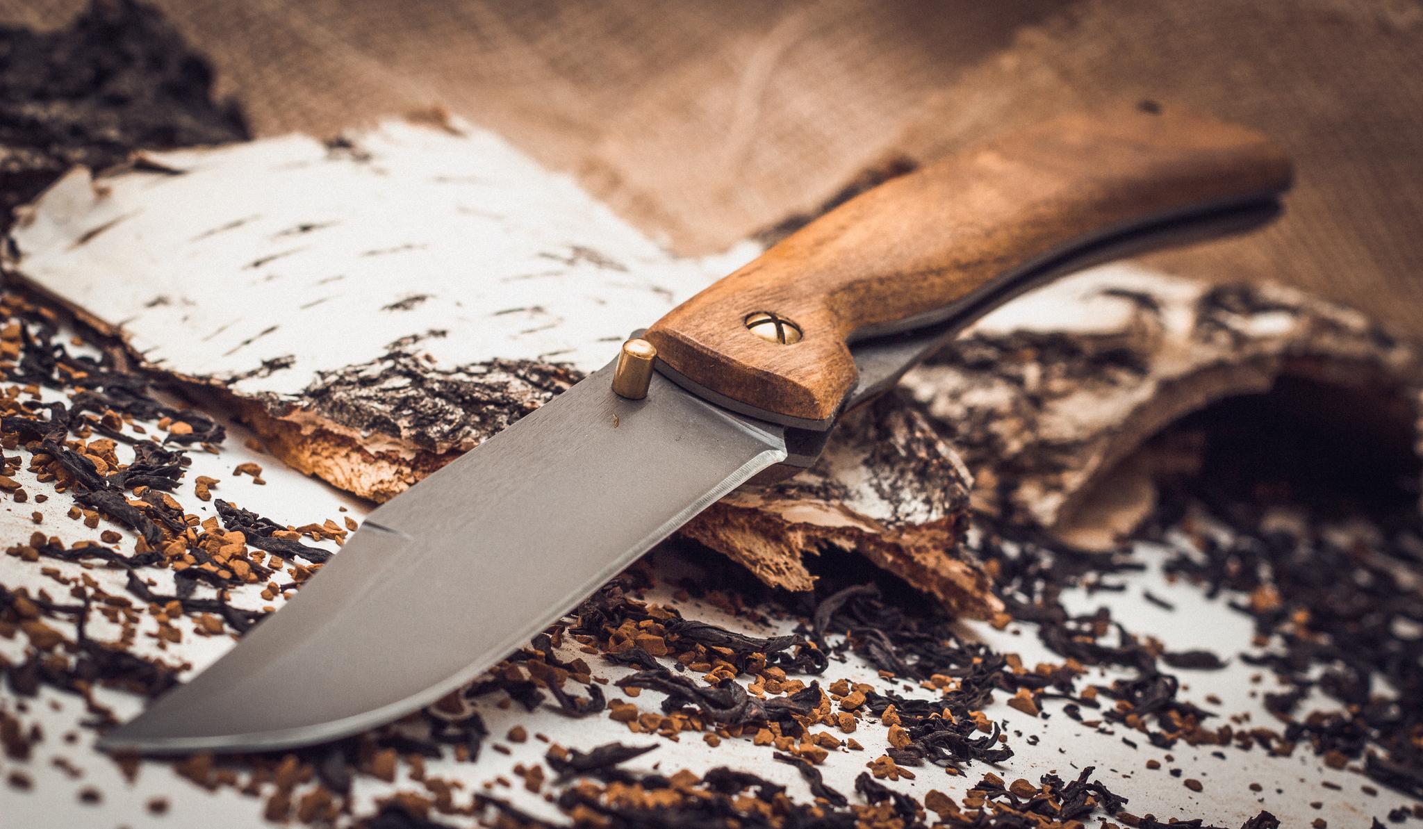 Фото 2 - Складной нож Храбрец, сталь 95х18, орех от Марычев