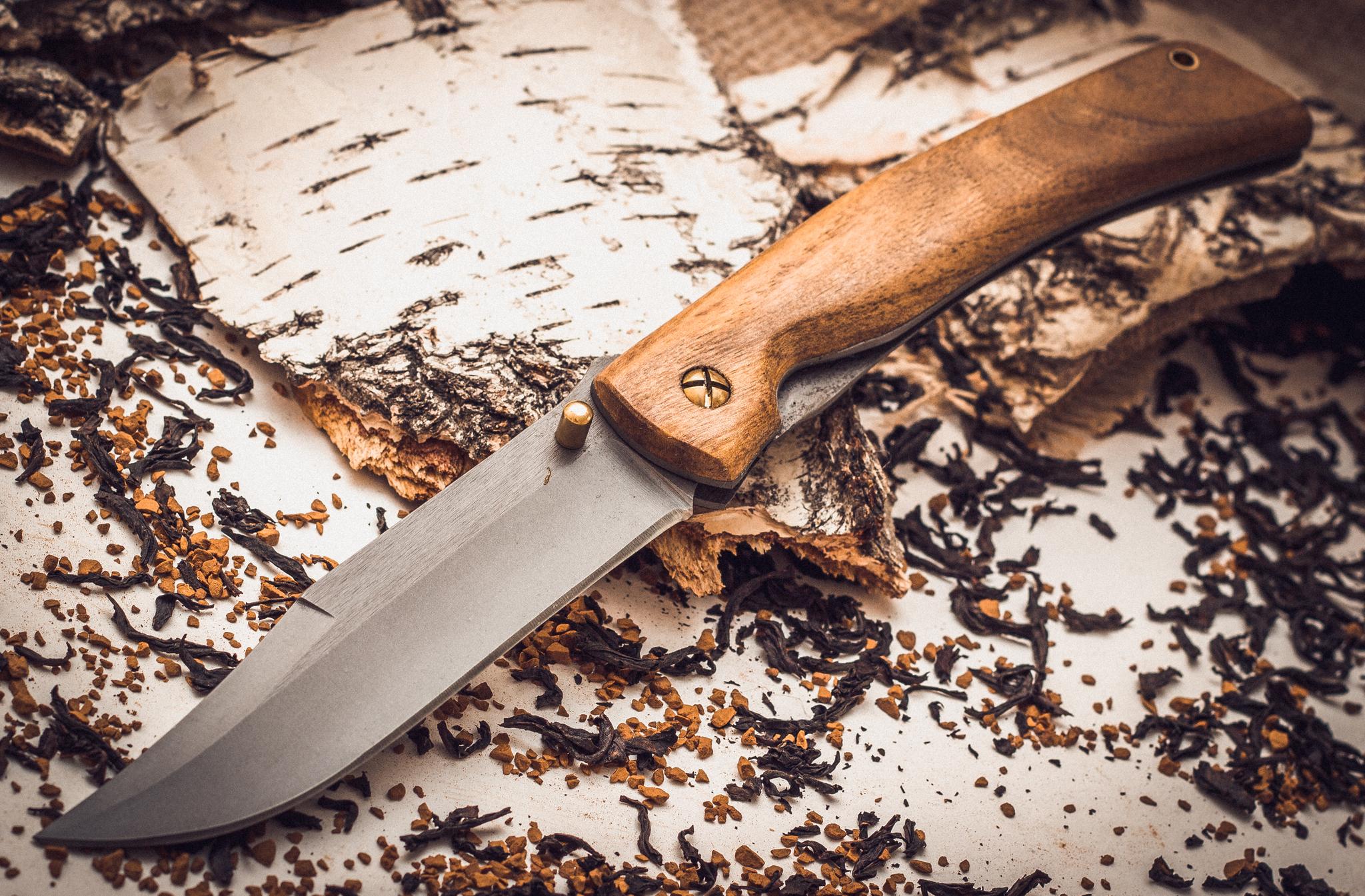 Фото 3 - Складной нож Храбрец, сталь 95х18, орех от Марычев