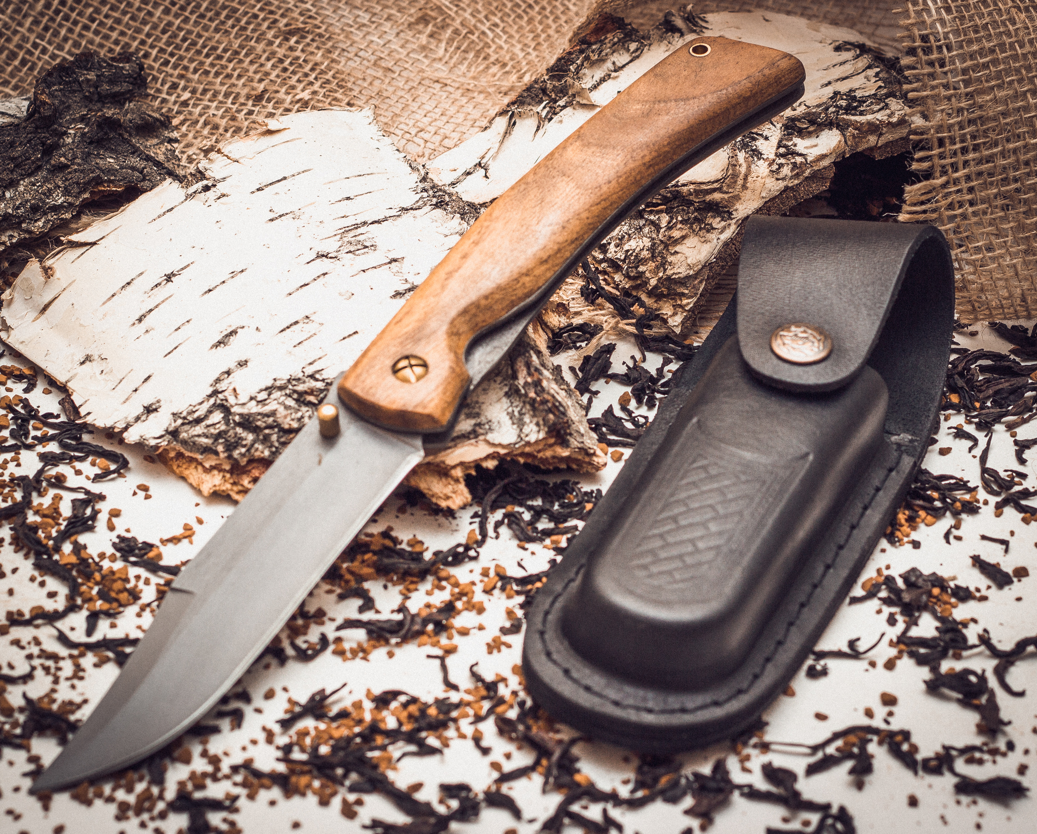 Фото 4 - Складной нож Храбрец, сталь 95х18, орех от Марычев