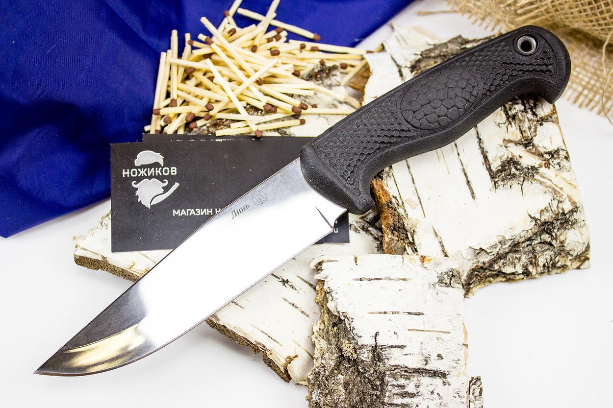 Нож Линь, КизлярКизляр ПП<br>Нож Линь – надежная и практичная модель ножа, которая станет верным помощником на рыбалке, охоте или пикнике рядом с домом. Форма клинка обеспечивает точный и легкий рез, а эргономичная рукоять с ограничителями позволяет развивать значительное усилие при совершении тяжелых работ. Клинок имеет прямую форму с высокими спусками и понижением обуха в направлении кончика. Монтаж сквозной. Рукоять выполнена из прочного эластрона с цепкими насечками. На конце рукояти расположено отверстие под темляк. Ножны из натуральной кожи надежно фиксируют нож и в тоже время позволяют при необходимости достать нож одной рукой. Благодаря нержавеющей стали и рукоятке из синтетического материала, нож можно использовать в любых погодных условиях, в условиях с повышенной влажностью или при сильных морозах.<br>