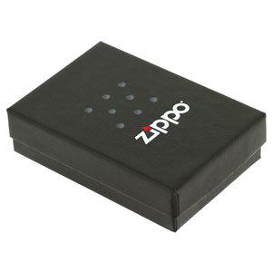 Фото 2 - Зажигалка ZIPPO Black Crackle, латунь с порошковым покрытием, черный, матовая, 36х56х12 мм