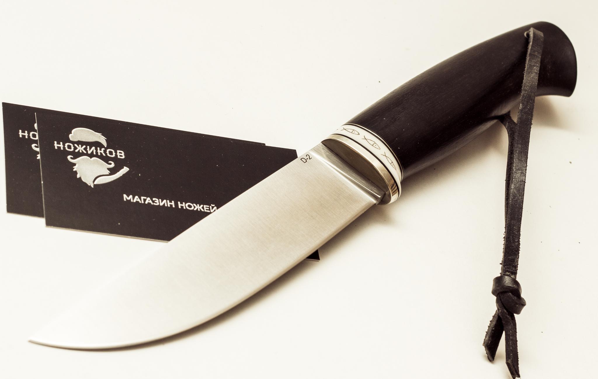 """Нож Лиман - 2, сталь D2, черный граб """"скрим-шоу"""" от Магазин ножей """"Ножиков"""""""
