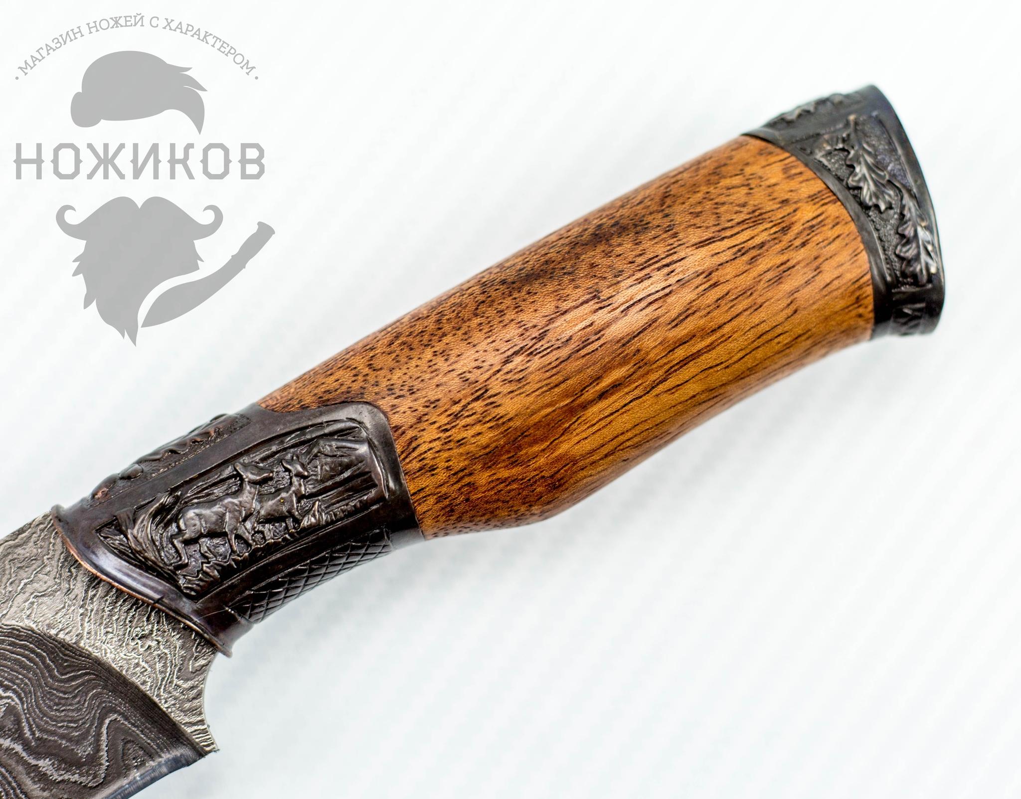 Фото 4 - Авторский Нож из Дамаска №61, Кизляр от Noname