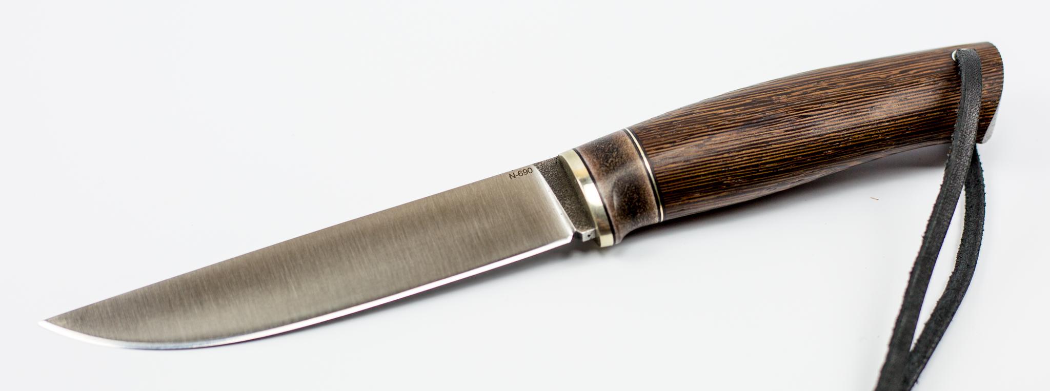 Нож Лиман, сталь N-690, венге, рог лосяНожи Староминск<br>Нож Лиман, сталь N-690, венге, рог лося<br>