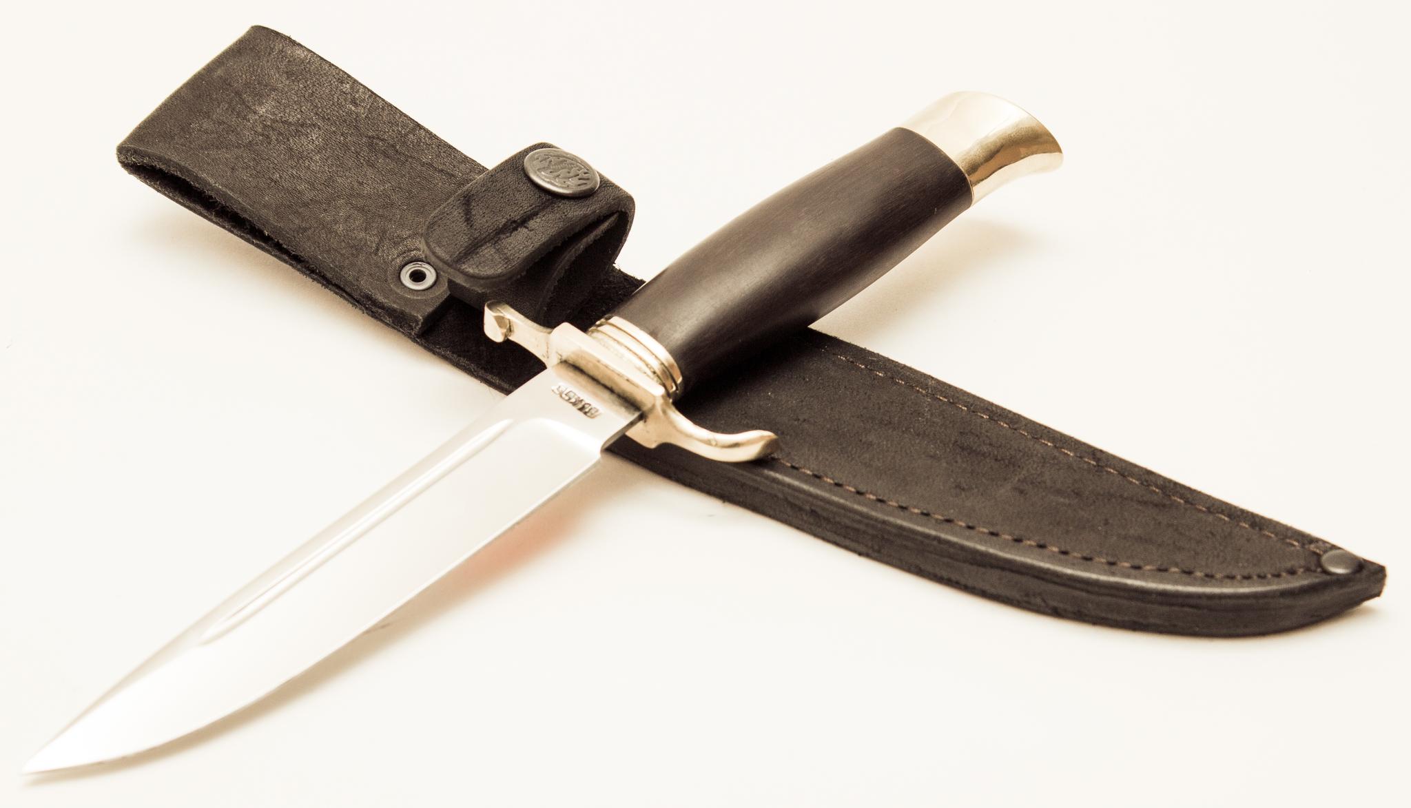 Фото 2 - Нож Финка НКВД, сталь 95х18, с литьем из латуни от АТАКА