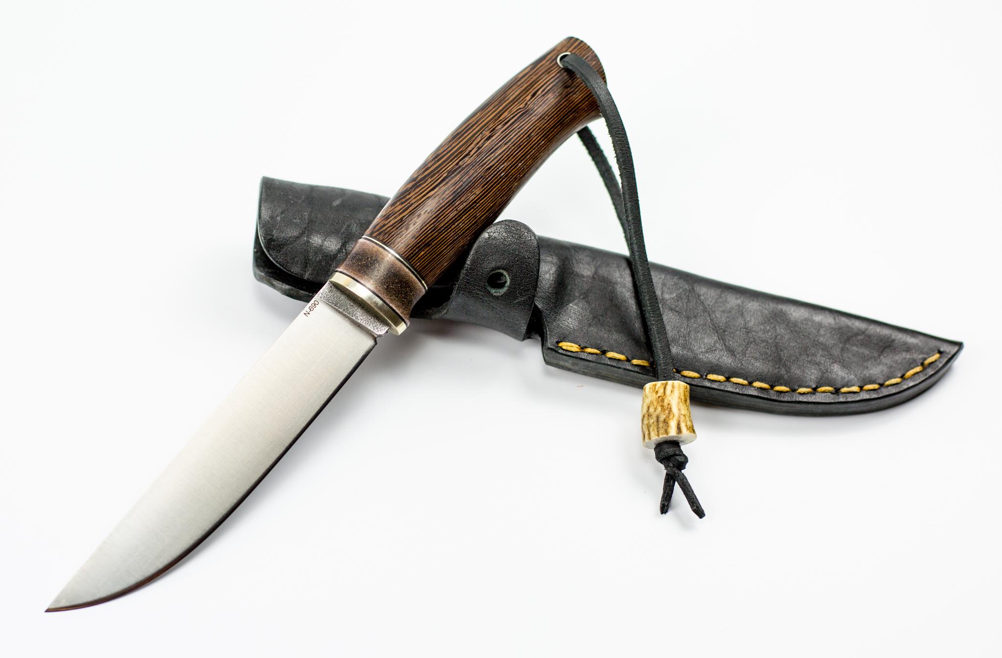 Нож Лиман, сталь N-690, венге, рог лося от Sander