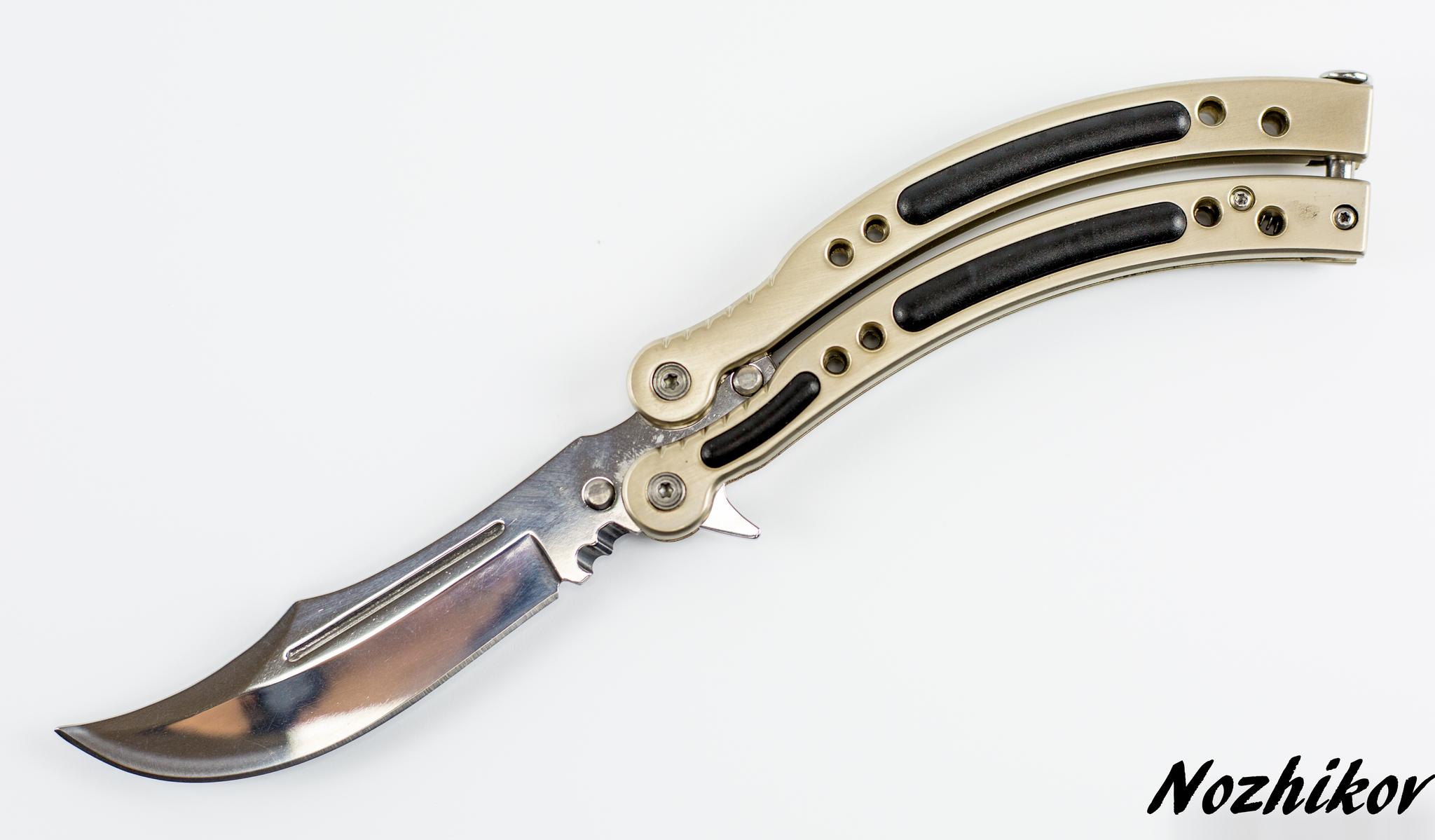 Нож-бабочка (балисонг) CS GO Silver от Noname