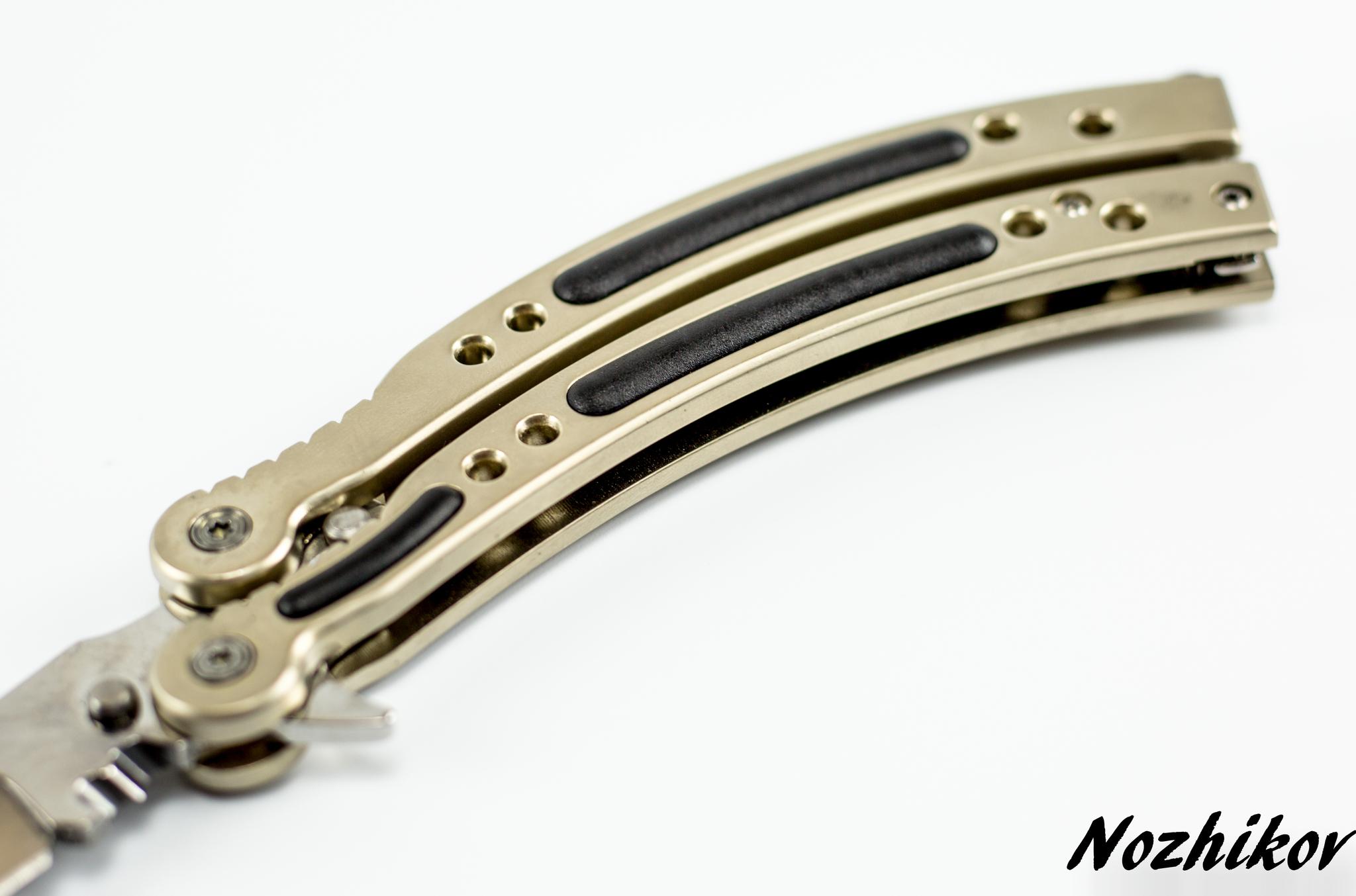 Фото 6 - Нож-бабочка (балисонг) CS GO Silver от Noname