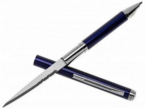 Скрытая ручка-нож Штурм, синяя - Nozhikov.ru