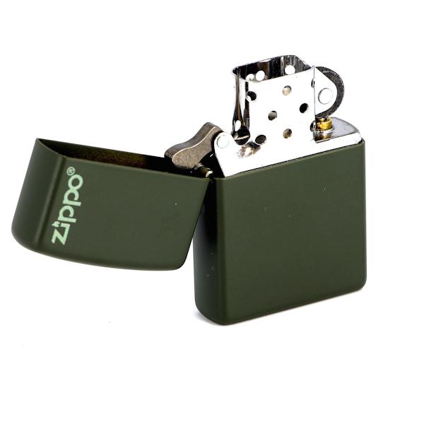 Фото 2 - Зажигалка ZIPPO Green Matte, латунь с порошковым покрытием, зеленая, матовая, 36х56х12 мм
