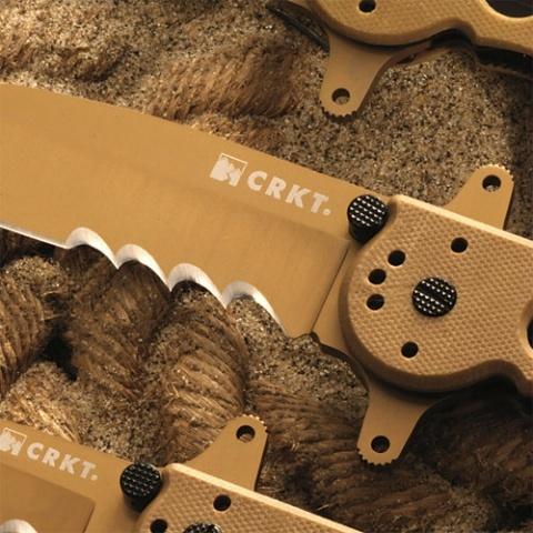 Фото 2 - Складной нож Kit Carson M16 Tanto Desert G-10 от CRKT