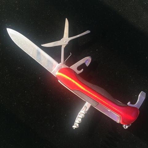 Нож складной универсальный, красный - Nozhikov.ru