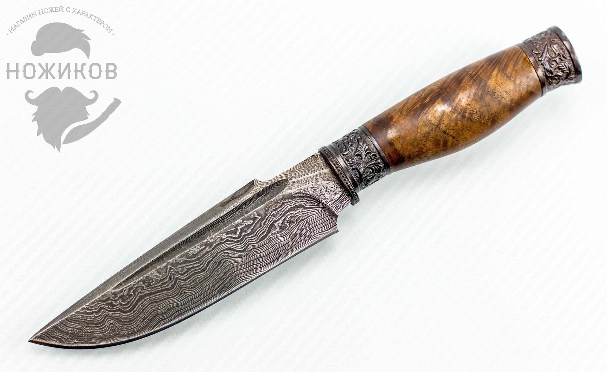 Авторский Нож из Дамаска №62, Кизляр авторский нож из дамаска 11 кизляр