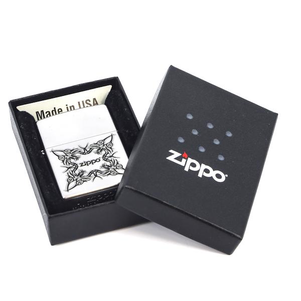 Фото 3 - Зажигалка ZIPPO Tattoo Design Satin Chrome, латунь с ник.-хром. покрыт.,серебр.,матовая, 36х56х12мм