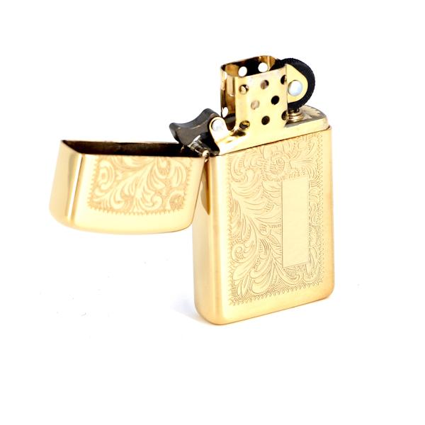 Фото 2 - Зажигалка ZIPPO High Polish Brass, латунь, золотистый, глянцевая, 30х55х10 мм