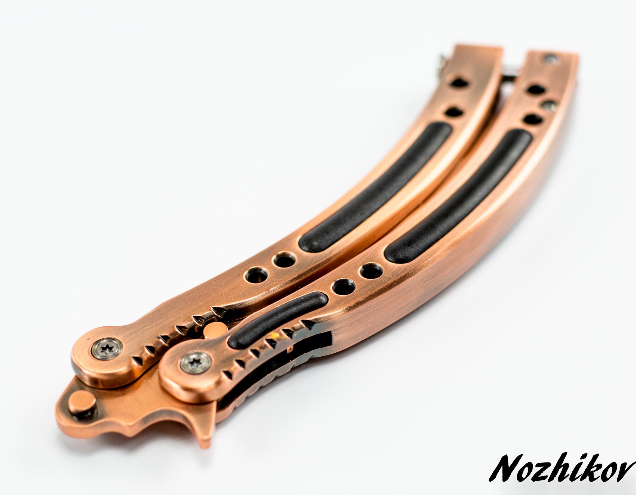 Фото 7 - Нож-бабочка (балисонг) CS GO Бронза от Noname