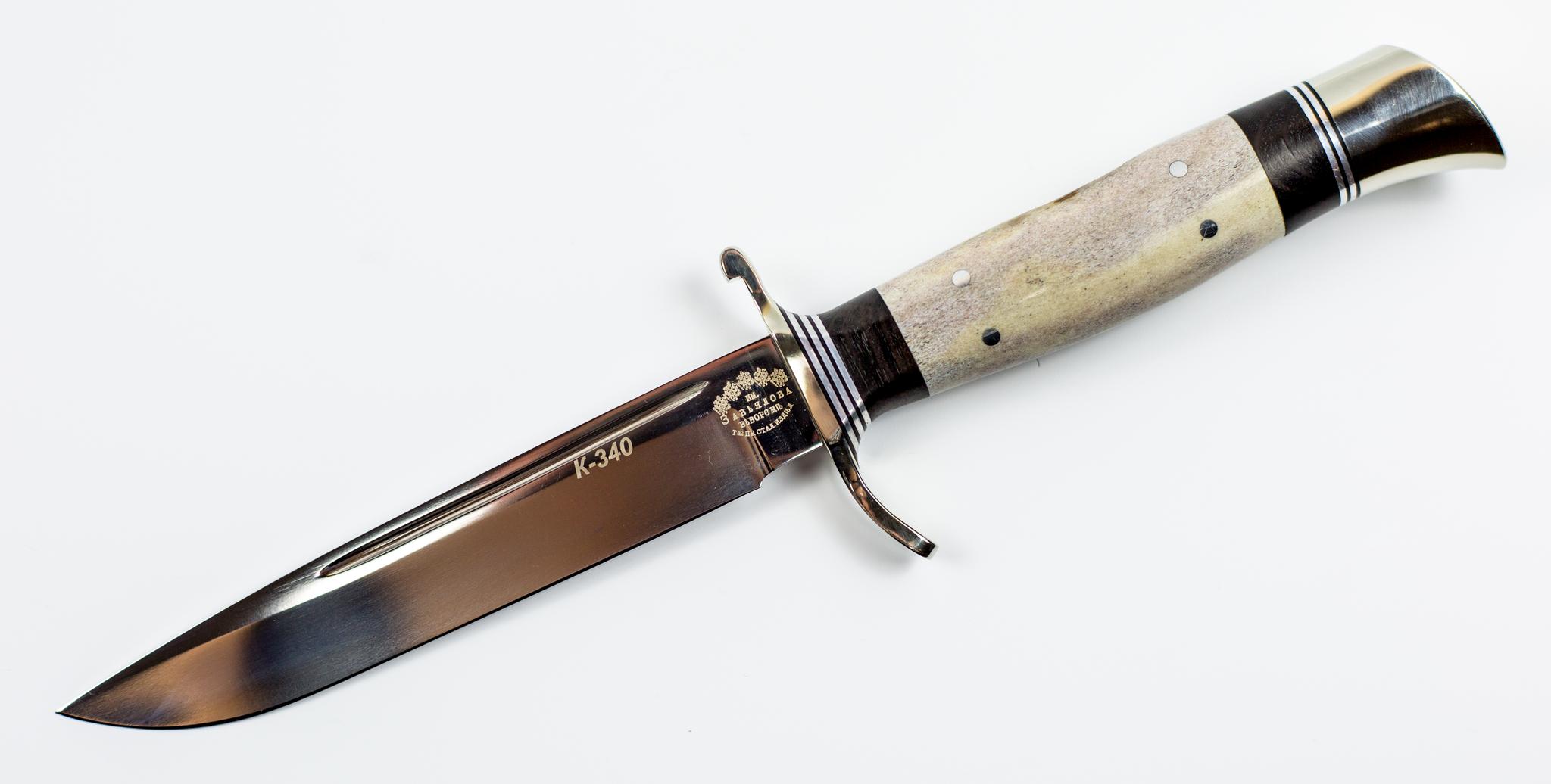 Финка НКВД сталь K340, ручка рог