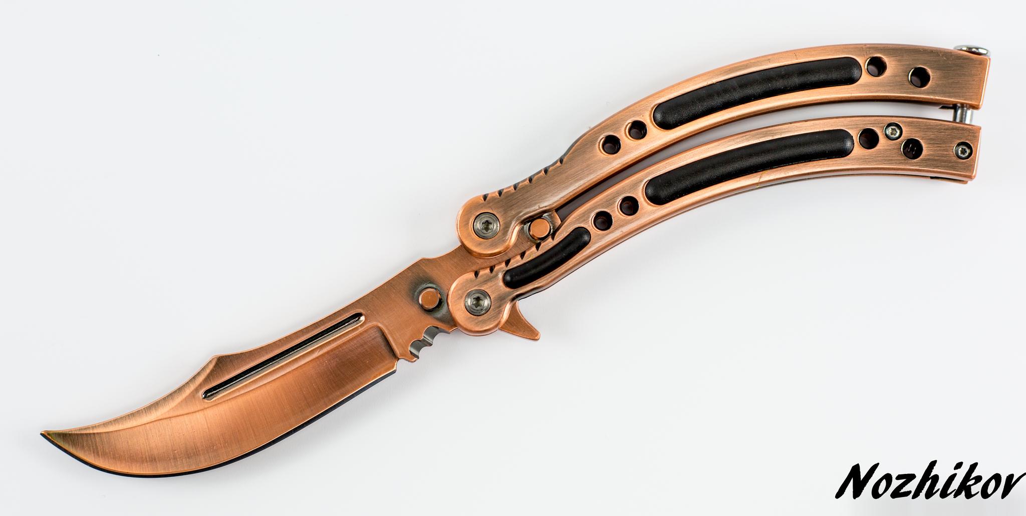 Нож-бабочка (балисонг) CS GO Бронза от Noname