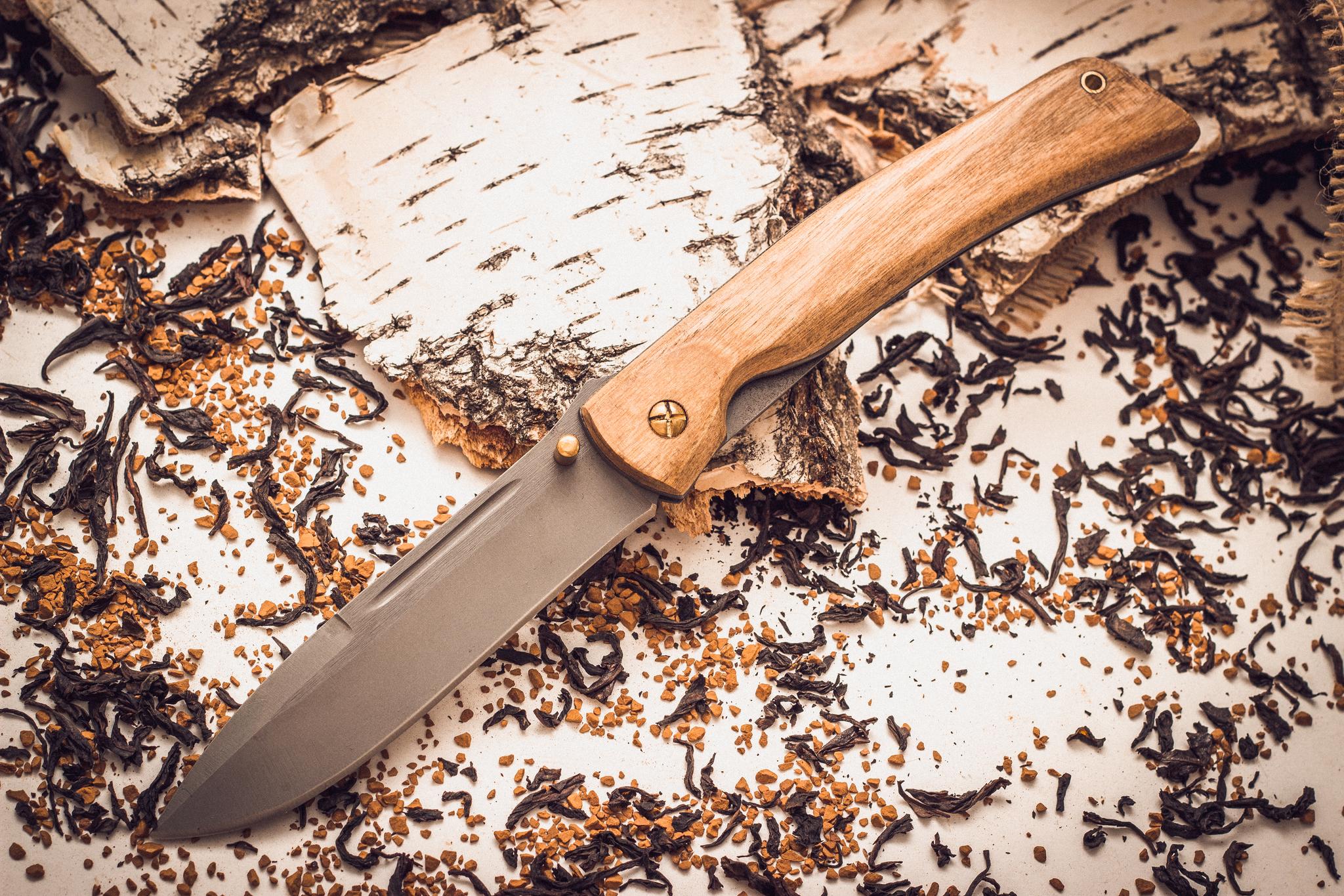 Складной нож Бродяга, сталь 95х18, орех от Марычев