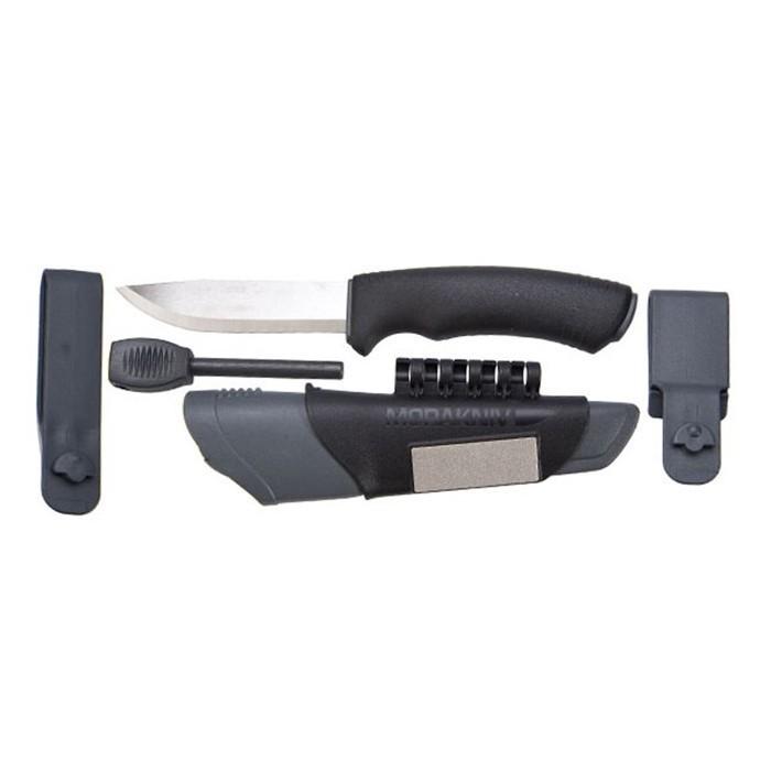 Фото 4 - Нож с фиксированным лезвием Morakniv Bushcraft Survival, сталь Sandvik 12C27, рукоять пластик/резина