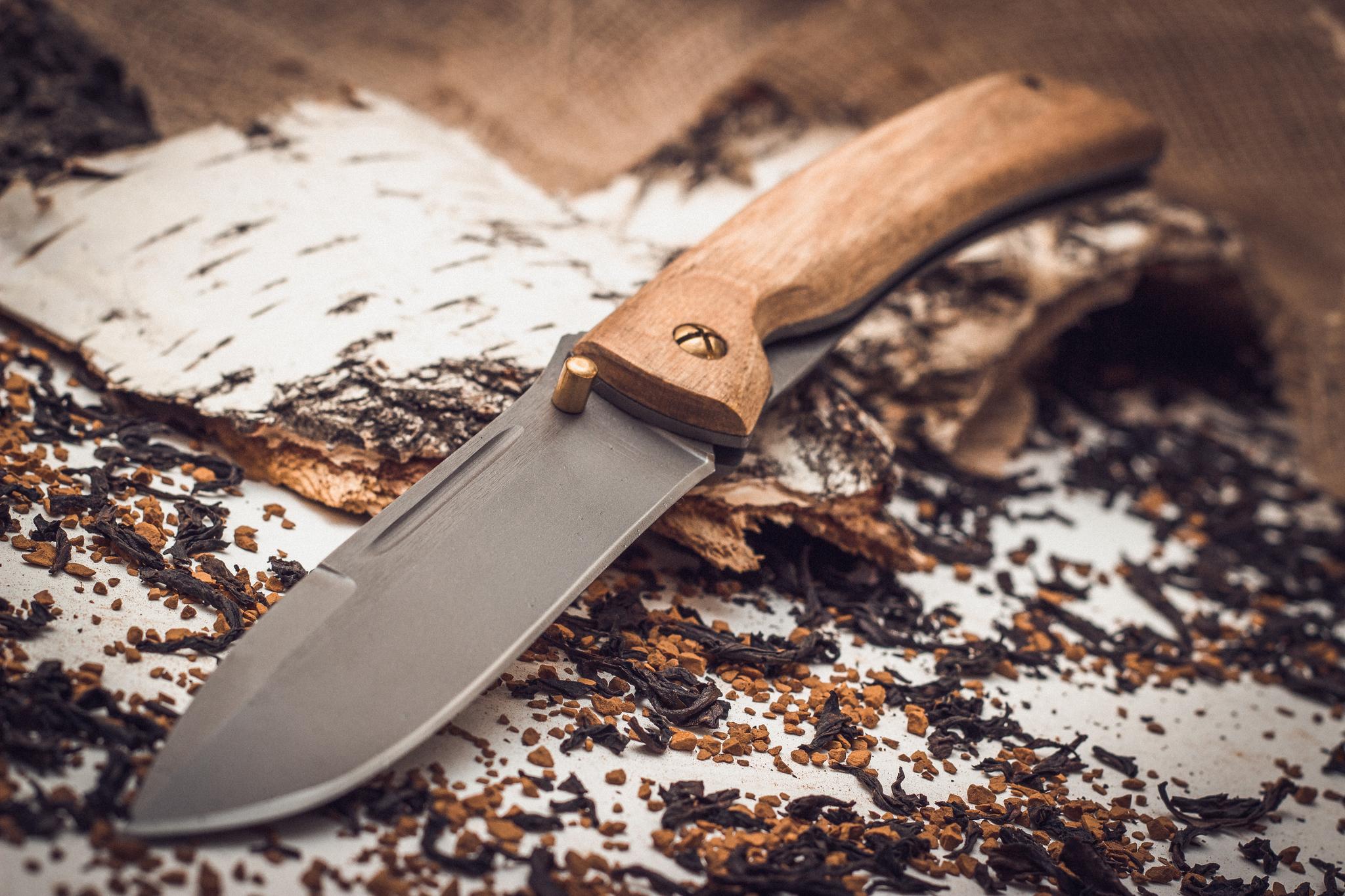 Фото 2 - Складной нож Бродяга, сталь 95х18, орех от Марычев