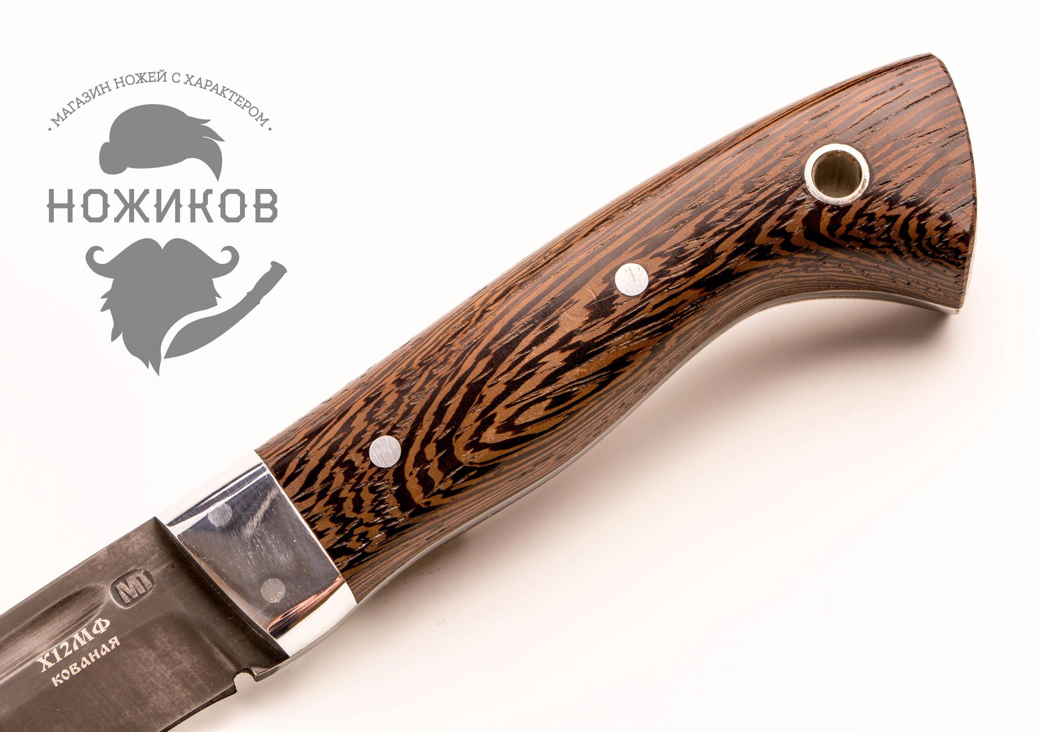 Фото 6 - Нож МТ-7, цельнометаллический Х12МФ, венге, Ворсма