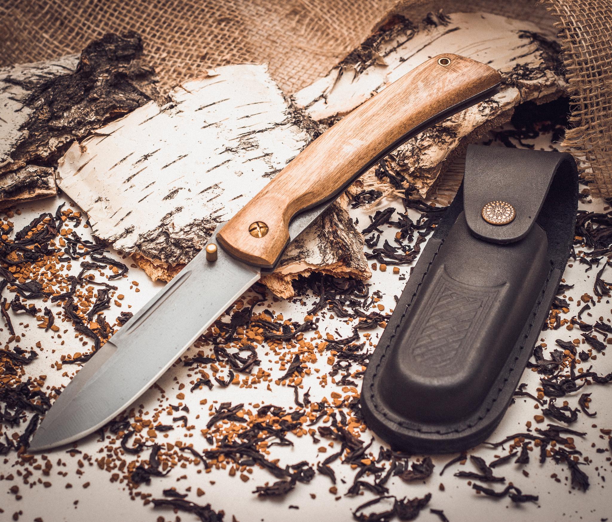 Фото 3 - Складной нож Бродяга, сталь 95х18, орех от Марычев
