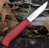 Нож Morakniv Basic, углеродистая сталь, пластик, красный - Nozhikov.ru