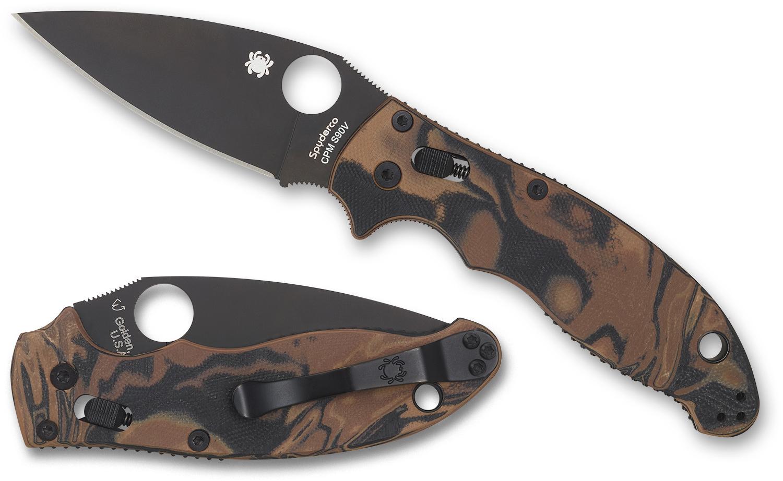 Складной нож Spyderco Manix 2 Burled складной нож spyderco military sprint run