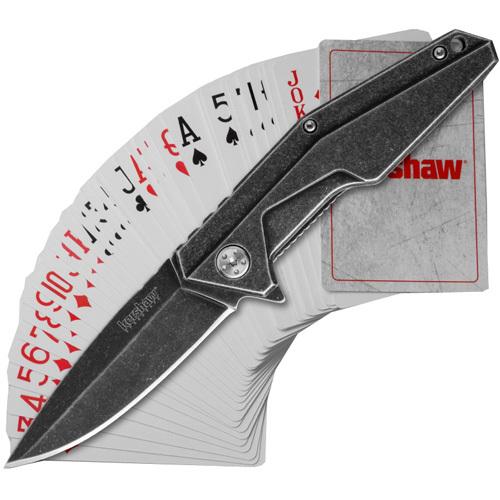 Полуавтоматический складной нож Starter Series Flipper и игральные карты Kershaw нож складной kershaw chill