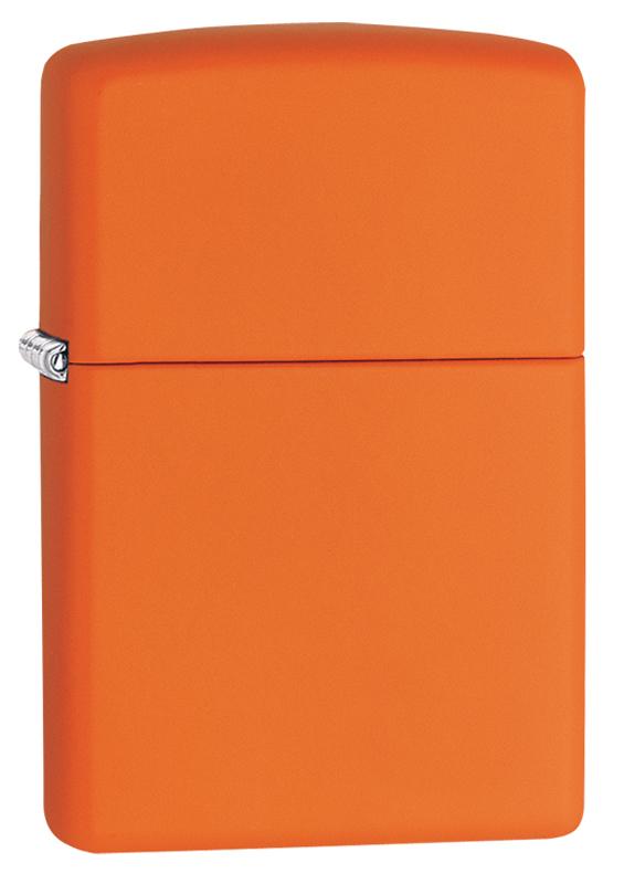 Зажигалка ZIPPO Classic с покрытием Orange Matte, латунь/сталь, оранжевая, матовая, 36x12x56 ммЗажигалки ZIPPO<br>Зажигалка ZIPPO Classic с покрытием Orange Matte, латунь/сталь, оранжевая, матовая, 36x12x56 мм<br>